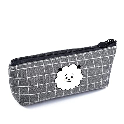 4h6yerf muchos tipos KPOP BTS Cartoon Canvas Pencil Bag ...