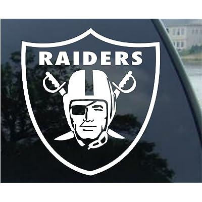 "customdecaltattooz Oakland Raiders Emblem Car Window Decal Sticker (5.5"", White): Automotive"