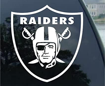 Customdecaltattooz oakland raiders emblem car window decal sticker 5 5