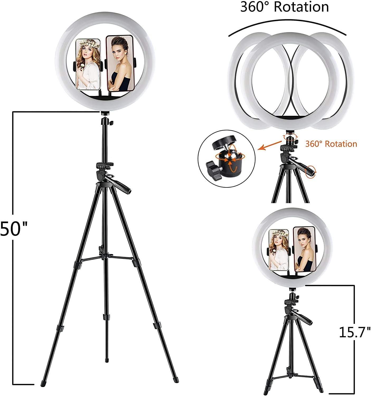 12// 30cm Ringlicht ZENUTA Ringlicht Mit Stativ 3 Beleuchtungsmodi und 10 Einstellbarer Helligkeit,Desktop-St/änder,Bluetooth-Empf/änger f/ür YouTube Vine Self-Portr/ät der Videoaufnahme