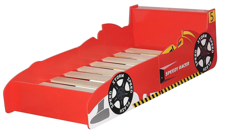 Letto Macchina Cars Mcc/® Letto per bambini forma di Automobile Rosso