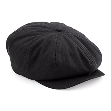 e7e1cb66df72 Image Unavailable. Image not available for. Colour: Mens Retro Style Black  Baker Boy Hat Newsboy Gatsby Country Flat ...