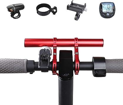 Atuka TOMALL Barra de extensión de Manillar Barra de extensión de Bicicleta Soporte de aleación de Aluminio Soporte para XIAOMI M365, Ninebot ES1 ES2, ...