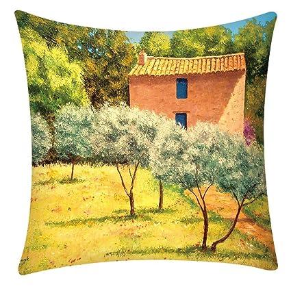 Koperras Imprimer taie doreiller Polyester canap/é Housse de Coussin de Voiture d/écor /à la Maison 45 x 45 cm