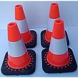 Set of 4 Flexible Traffic Cones 30 cm