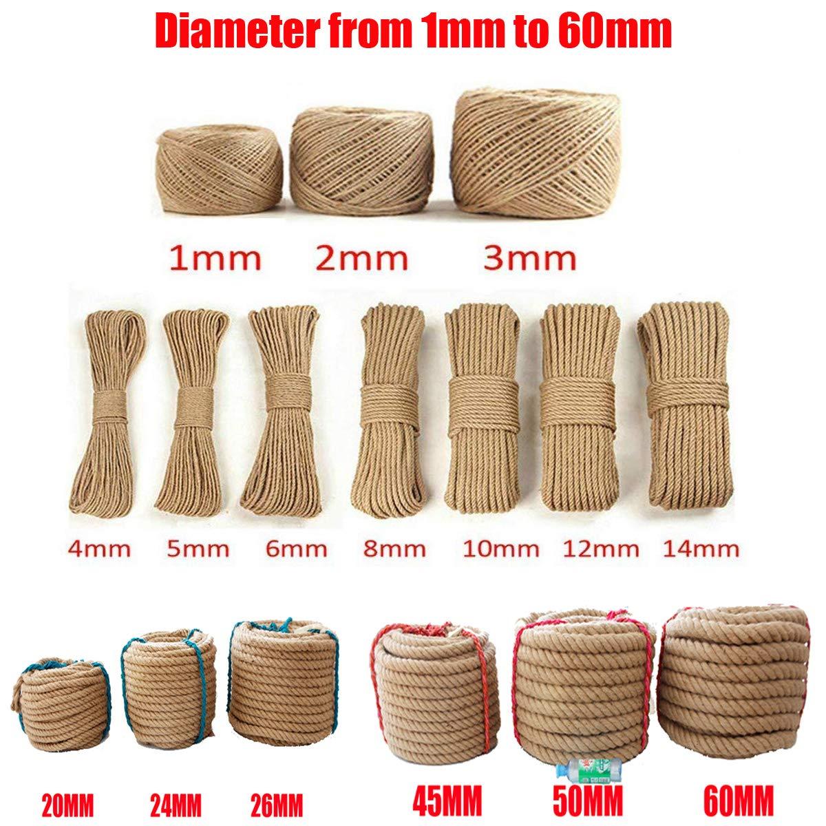 Yute cuerda 100/% Natural 20/m///ø5/mm 10/mm 15/mm 20/mm 25/mm 30/mm 35/mm 40/mm 45/mm 50/mm