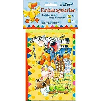 Postales Invitacion cumpleaños Animales felices. Die Lieben ...