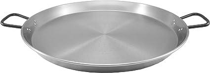 Gourmet Bräter Grill Paella Pfanne aus Stahl Ø 22 cm