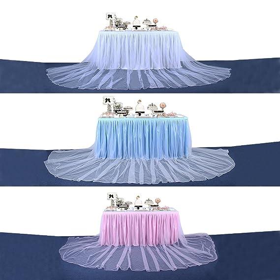 6821fd467 yunt falda de mesa Boda Decoración tul para fiesta cumpleaños Party ...