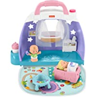 Fisher-Price Little People Cuddle & Play Nursery, Portable Nursery Play Set for Toddlers and Preschool Kids Up to Age 5