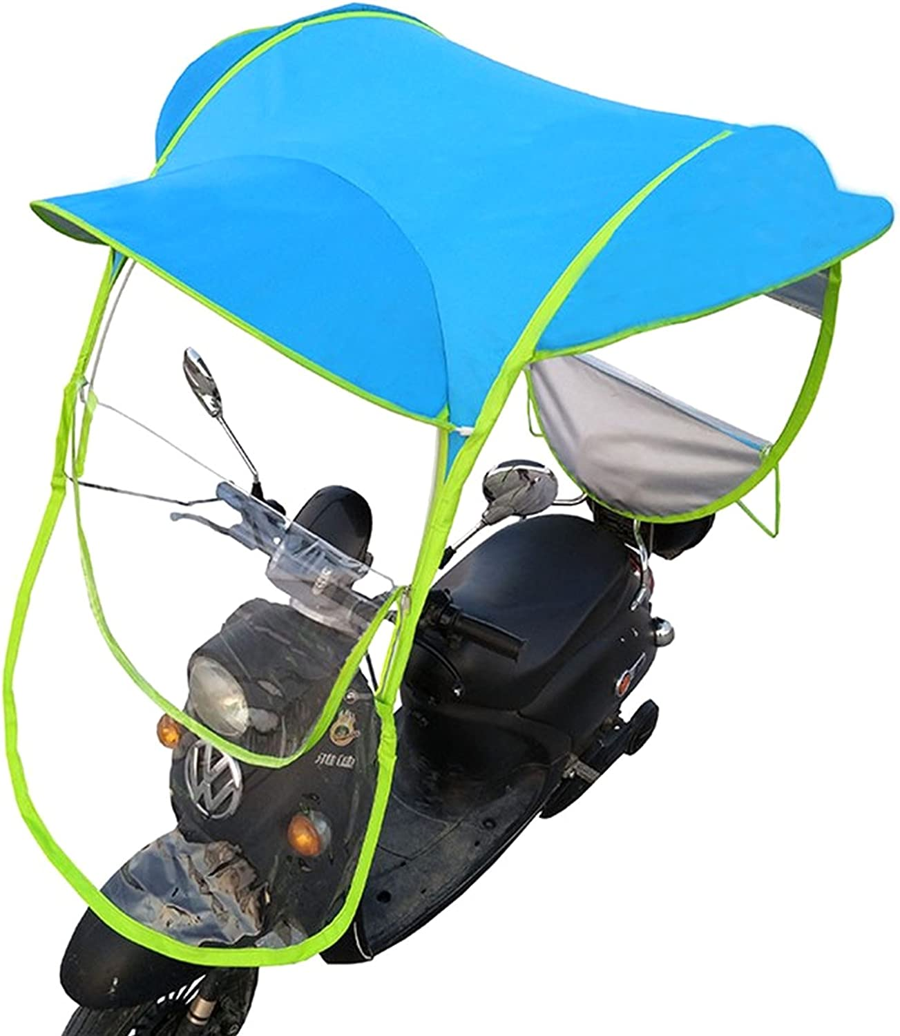 Universal Car Motor Scooter Umbrella Mobility Sun Shade Rain Cover  Waterproof Blue Accessories Vehicle Covers
