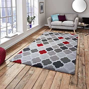 Amazon.de: OREVA Tapis de salon style scandinave - 100 ...