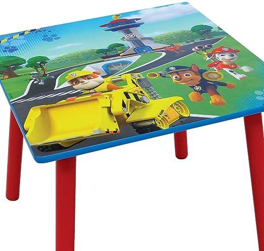 Fun House 712593 Paw Patrol, Tavolo Quadrato per Bambini, in Legno, MDF, Dimensioni: 50 x 50 x 44 cm, Colore: Blu