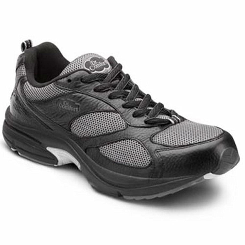 Dr. Comfort Endurance Plus Men's Therapeutic Diabetic Extra Depth Shoe Leather-and-Mesh Lace B00IOT53ZQ -9.5 X-Wide (3E/4E) Black Lace US Men|Black