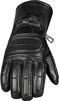 motorbike motorcycle winter leather gloves 3M thinsulate thermal insulation