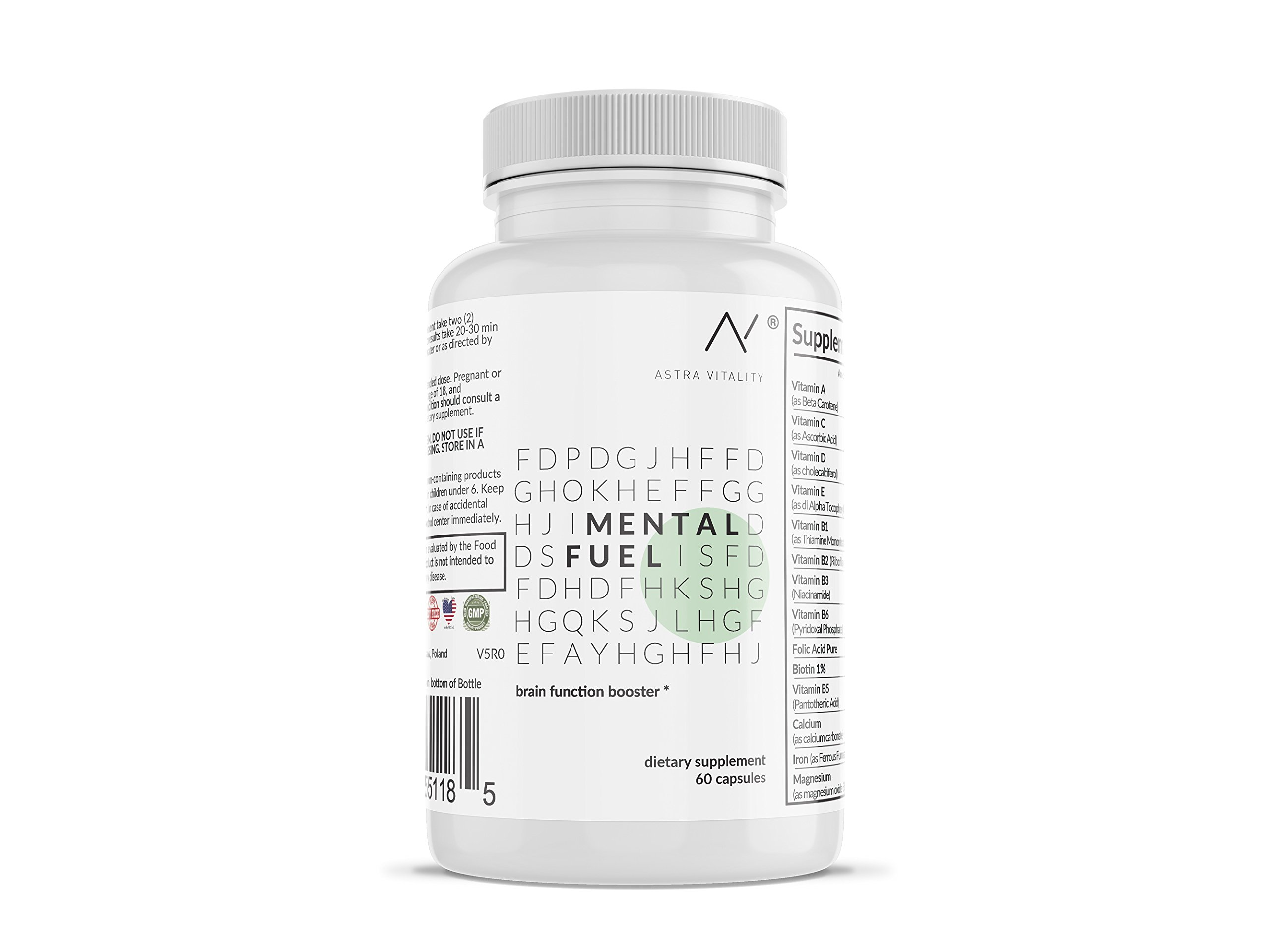 NOOTROPICS | High Strength (690mg) | Full 30-Day Supply | A Powerful & Advanced Brain Booster | Increase Mental Alertness, Energy Levels, Concentration w/Our Potent Focus Supplement by ASTRA VITALITY