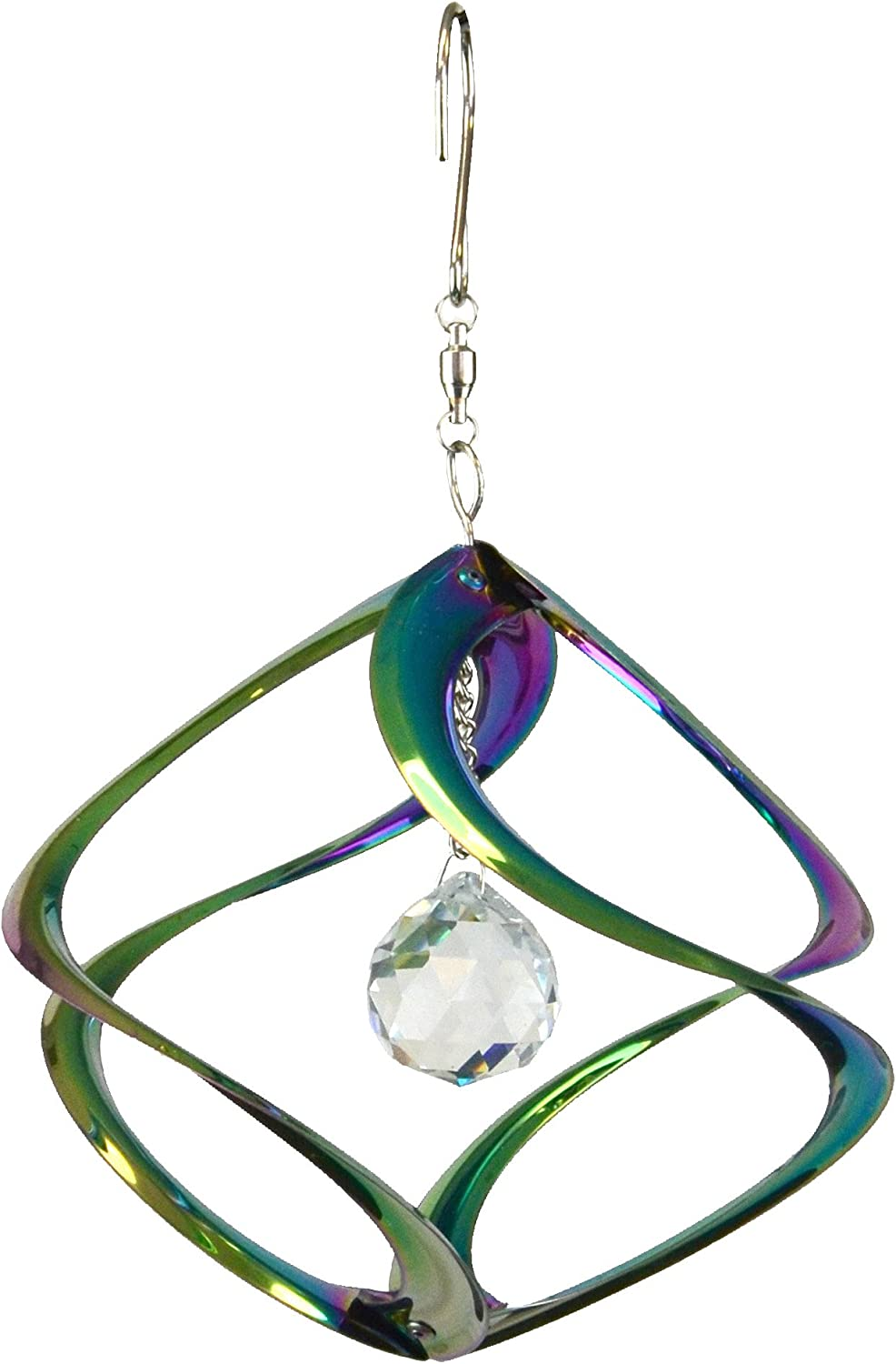 Red Carpet Studios Cosmix Rainbow with Crystals Wind Spinner