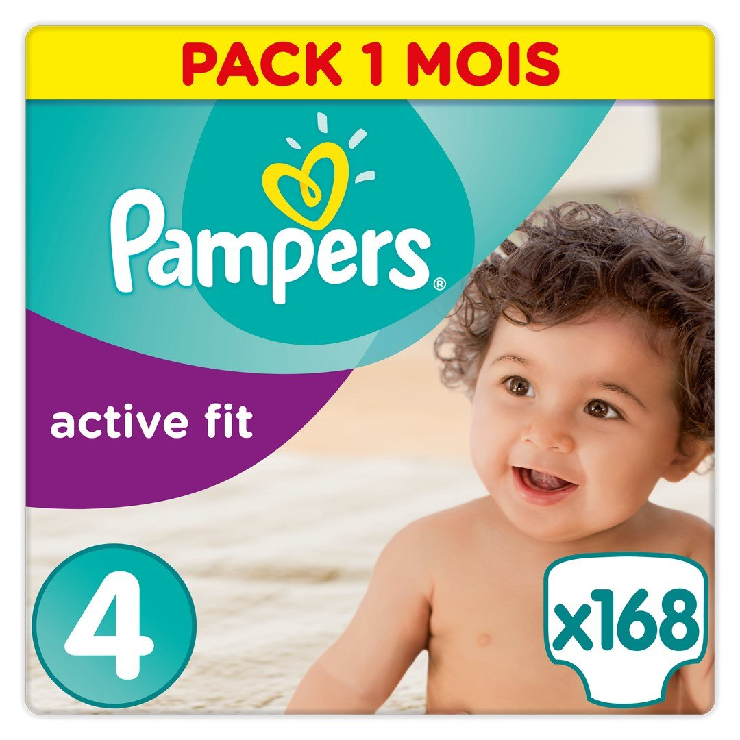 Pampers - Active Fit - Couches Taille 5+ (13-25 kg) - Pack 1 mois (x124 couches) 81395103 B00AFA3XEK