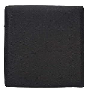 AmazonBasics Memory Foam Seat Cushion - Black, Square