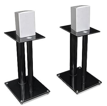 Pleasant Mount It Speaker Stands For Book Shelf And Surround Sound Speakers Universal Fit Premium Dual Pillar Aluminum And Tempered Glass Black Mi 28 Download Free Architecture Designs Xoliawazosbritishbridgeorg