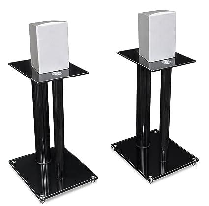 amazon com mount it speaker stands for book shelf and surround rh amazon com surround sound speaker wall mount Small Speaker Stands