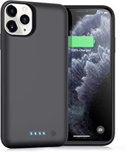 Battery Case for iPhone 11 Pro Max,Upgrade 7800mAh Portable Charging Case for iPhone 11 Pro Max Rechargeable Backup External Battery Pack Extended Battery Protective Charger Case(6.5inch)-Black