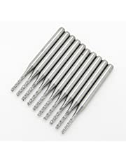 1.5mm Carbide End Mill Milling Set CNC Cutter Router Engraving Bits End Mill for PCB Machine Pack of 10