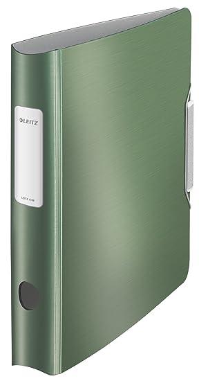 Leitz 11090053 - Archivador de anillas con palanca A4, verde: Amazon.es: Oficina y papelería