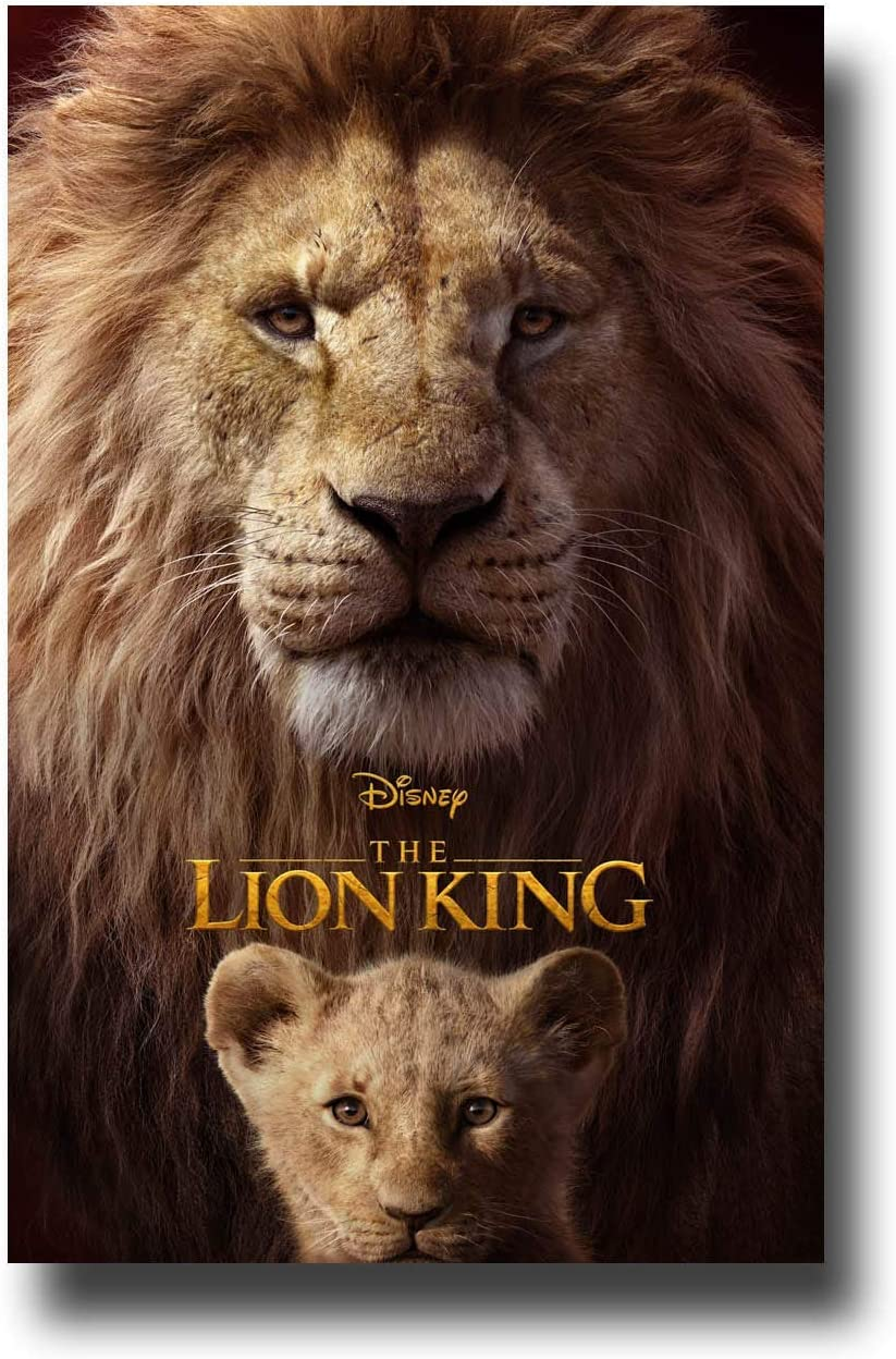 The Lion King Live Action Poster Movie Promo 12x18 inches Both Logo Print Limited Edition Print Frameless Art Gift