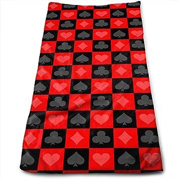 Dutars Toalla Multiusos de Microfibra con diseño de póquer, Toallas de Mano, Toallas de baño, ...