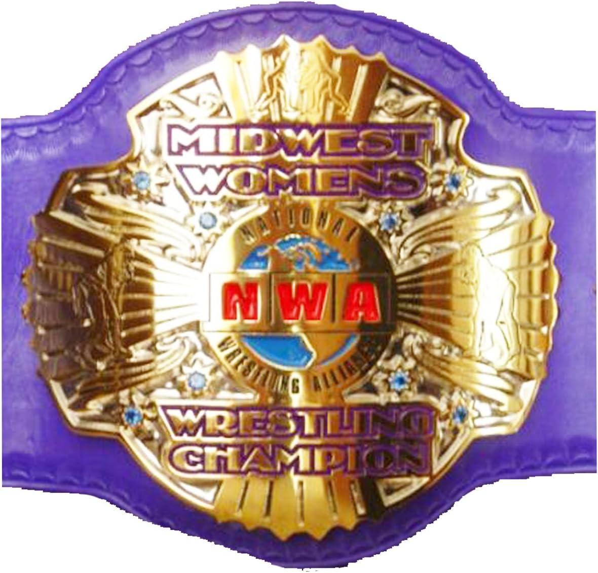 クリスマスSale $ 50オフ: NWA MidwestレディースレスリングChampionshipレプリカタイトルベルト – 真鍮メタル4 mmプレート