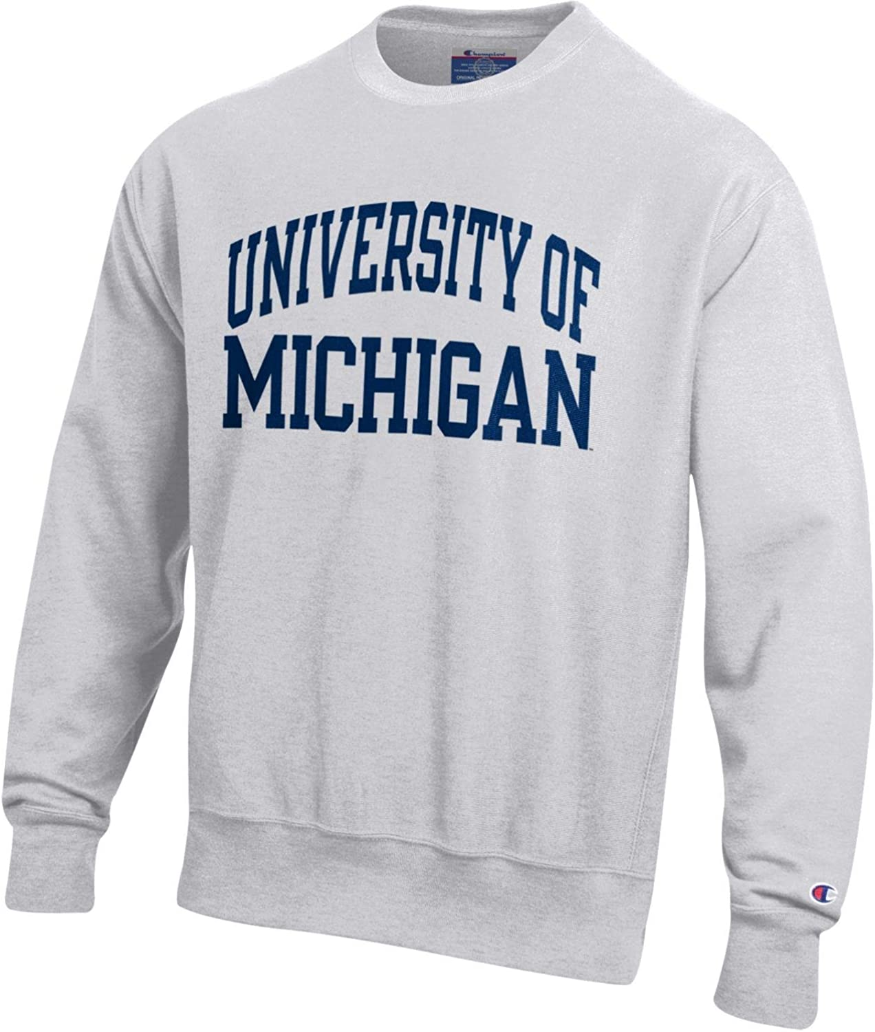 Champion Mens NCAA Reverse Weave Crew