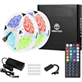 WenTop Led Strip Lights Kit 65.6ft(20M) 5050 SMD RGB LED Tape Lights Non-Waterproof with Power Supply44key Ir RemoteContro
