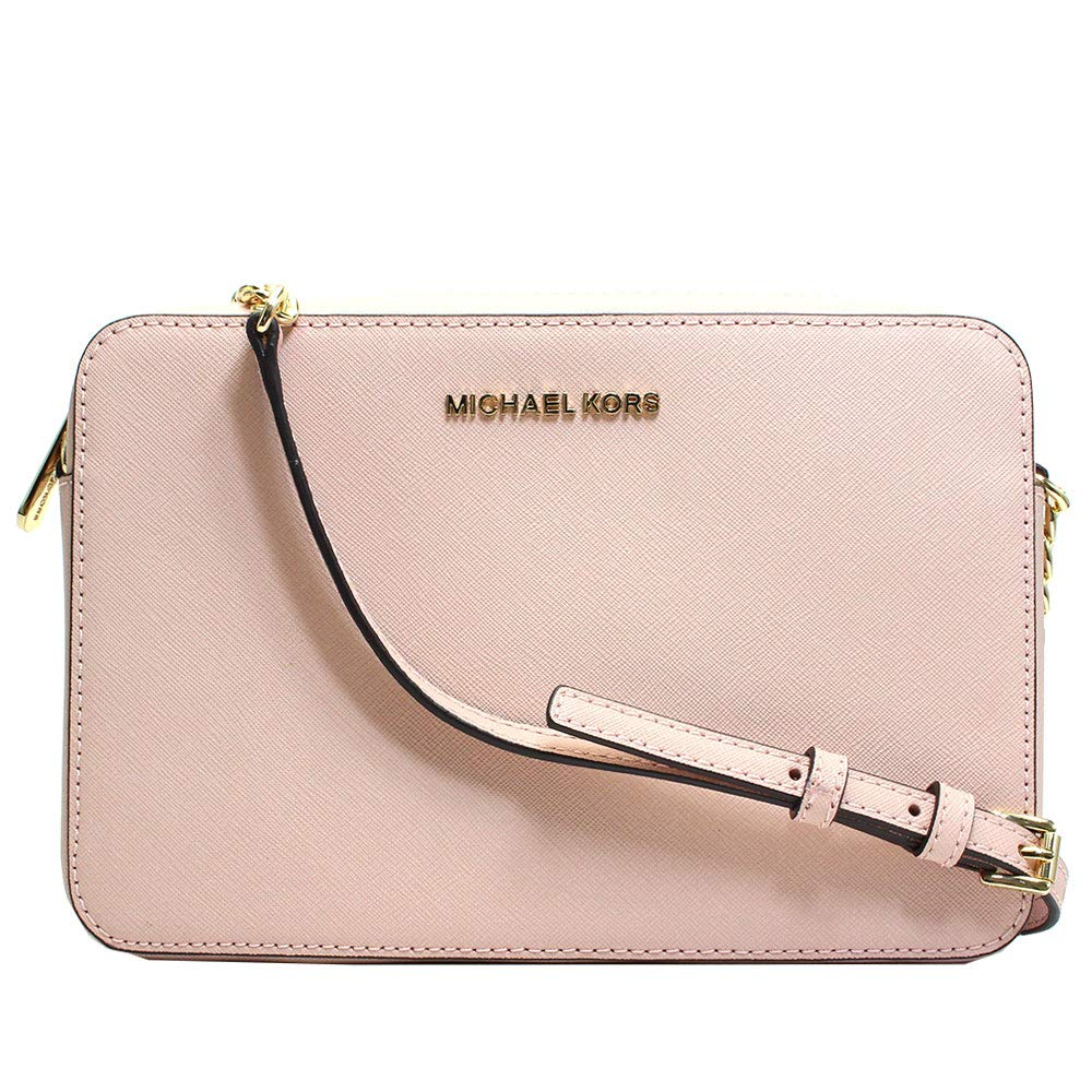 f1e4aa7be019 Galleon - Michael Kors Jet Set East West Large Crossbody Pastel Pink  Saffiano Leather