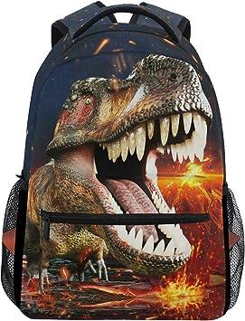 Gym Bag Cotton Children Backpack T-Rex Dinosaur Dino Kids Name 44