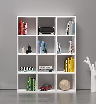 basic libreria saln oficina blanco divisorio estantera libros estantera librera