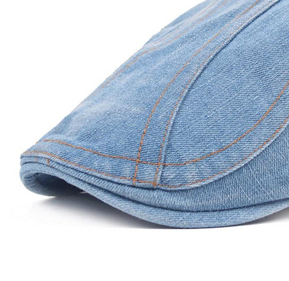 Wansan Men/'s Newsboy Gatsby Jeans Cabbie Hats Cotton Adjustable Driving Winter Hat