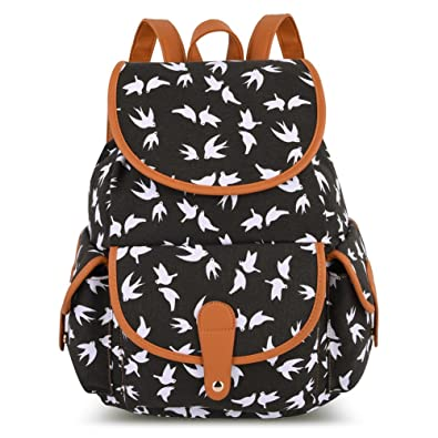 Amazon.com: Vbiger Canvas Backpack for Women & Girls Boys Casual ...