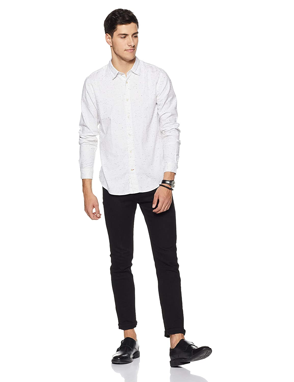 Scotch /& Soda Mens Regular Fit Classic Shirt in Neppy Quality