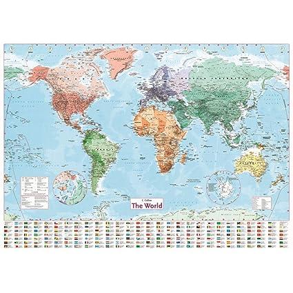 Large World Map Amazon.Amazon Com Water Hep Map Wall Sticker 100x70cm Wall Sticker World