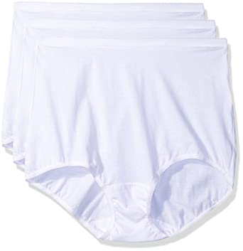 a9e22cf5377 Shadowline Women s Plus-Size Panties-Cotton Brief (3 Pack) at Amazon  Women s Clothing store