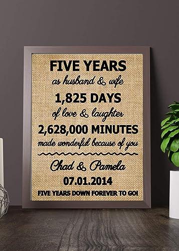 Amazon Com Fifth Anniversary Gift Ideas 5 Years Anniversary Gift