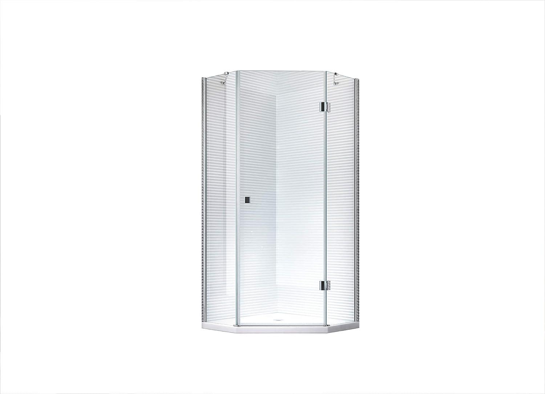 AYA – Cinco de esquina – Cabina de ducha – Ducha – Mampara – Cristal de Seguridad monocapa de – 8 mm: Amazon.es: Bricolaje y herramientas