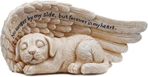 Edgewater Parts 11146 Small Memorial Garden Statue for Your Dog with Angel Wings