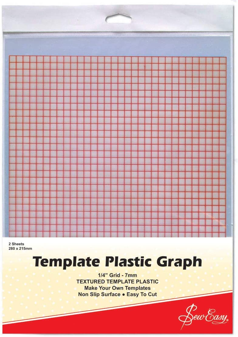PK OF 2 SEW EASY GRIDDED TEMPLATE PLASTIC SHEETS MAKE YOUR OWN STENCIL ER397