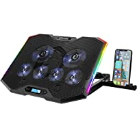 EMPIRE GAMING - Guardian S-C100 Refrigerador PC Ordenador Portátil RGB Gamer – 6 Ventiladores - Controlador LCD - 5…