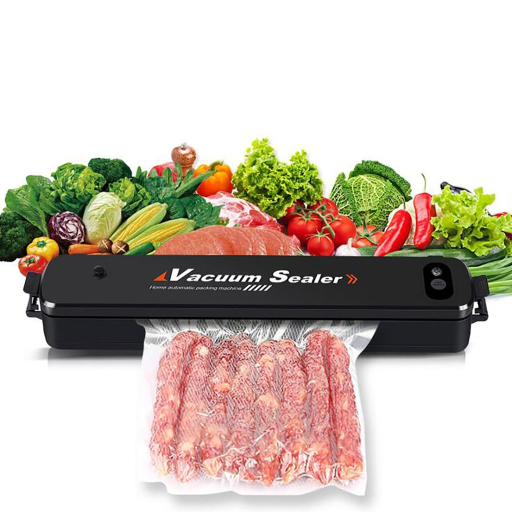 Vacuum Food Sealer Machine,One-Touch Vacuum Sealer With 15 Reusable Vacuum Sealing Bags, Home Vacuum Packaging Machine