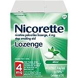 Nicorette Nicotine Lozenge, Stop Smoking Aid, 4mg, Mint Flavor, 144 Count
