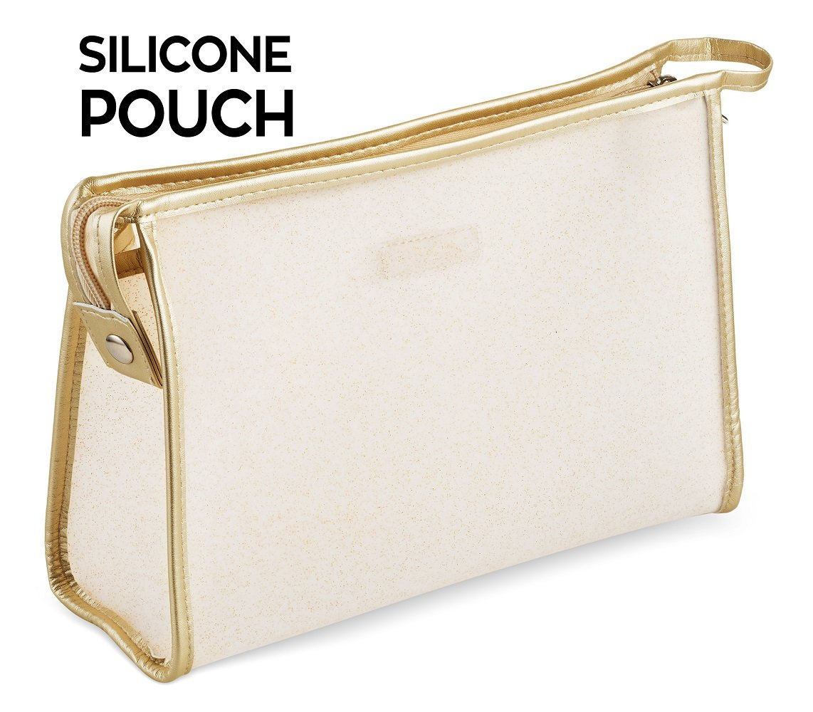 Le Sac Silky Soft Silicone Cosmetic Pouch Makeup Bag (Medium)