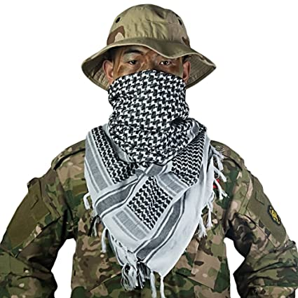 OneTigris Cotton Arab Shemagh Tactical Keffiyeh Desert Head Scarf for Men    Women (Green) 163091b04